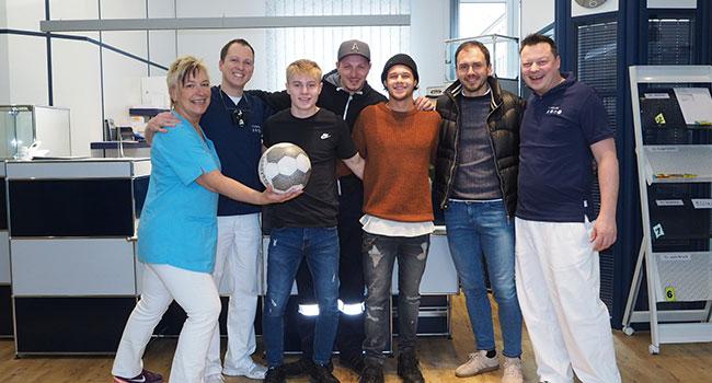 Unsere Praxis betreut die Fußballer des TUS Koblenz